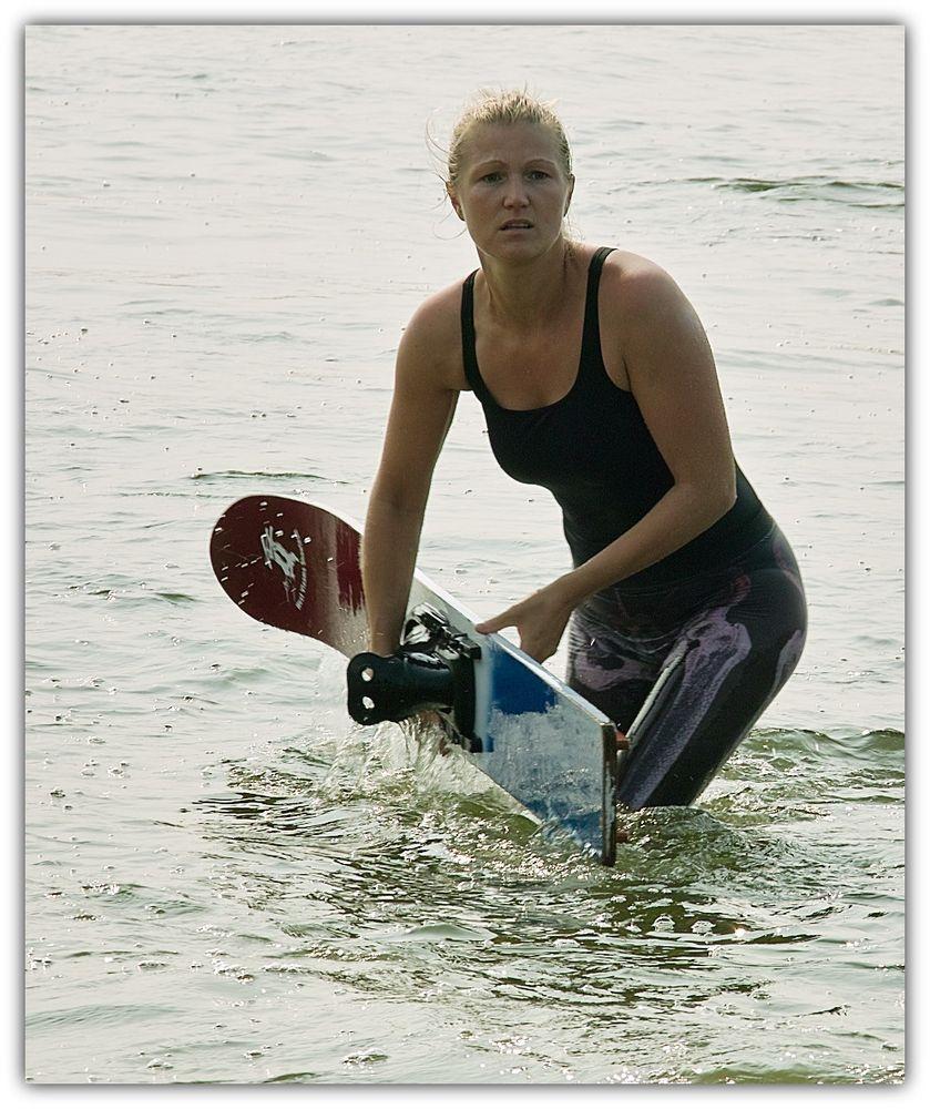 Die Wasserskiläuferin