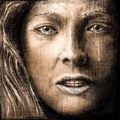 Die weinende Frau