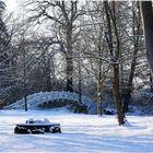 Die weiße Brücke im Winter