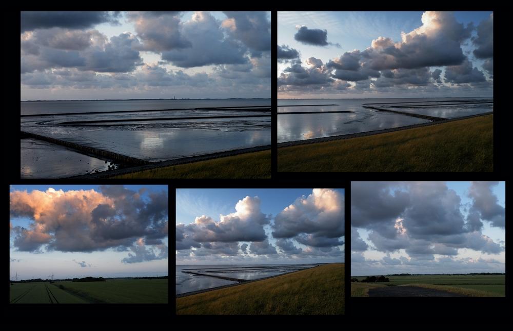 Die weißen Wolken....