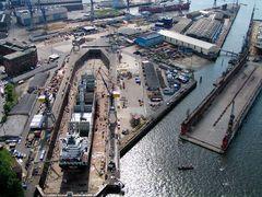 Die Werft Blohm und Voss / Hamburg