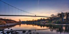 Die Weser in Minden mit der Glacisbrücke
