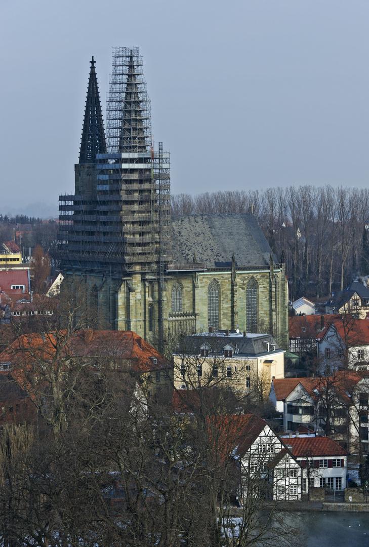 Die Wiesenkirche in Soest ist eine Dauerbaustelle