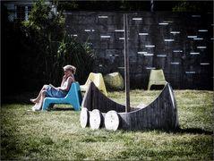 Die Wikingerin macht Pause an Land