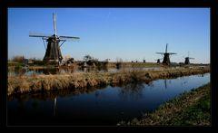 Die Windmühlen von Kinderdijk...