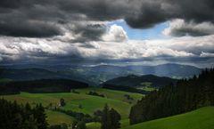 Die Wolken reißen auf ...
