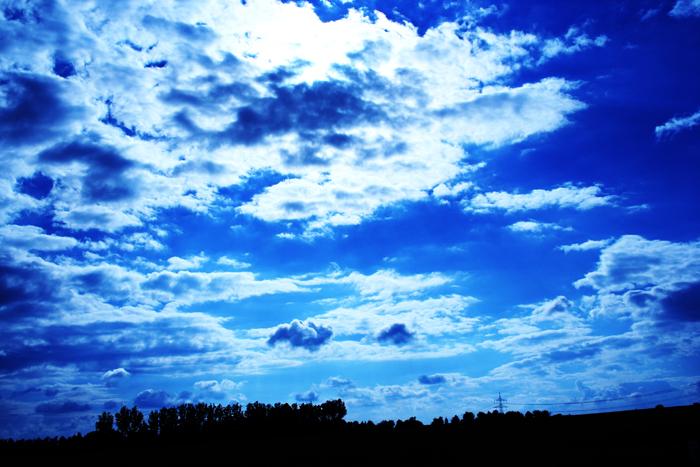 die wolken stehen still...
