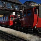 Die Zahnradbahn auf den 1780 Meter hohen Schafberg.