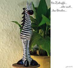 Die Zebraffe oder auch das Girabra...
