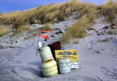 Die Zeit des Fischens. Stille am strand von Hiddensee