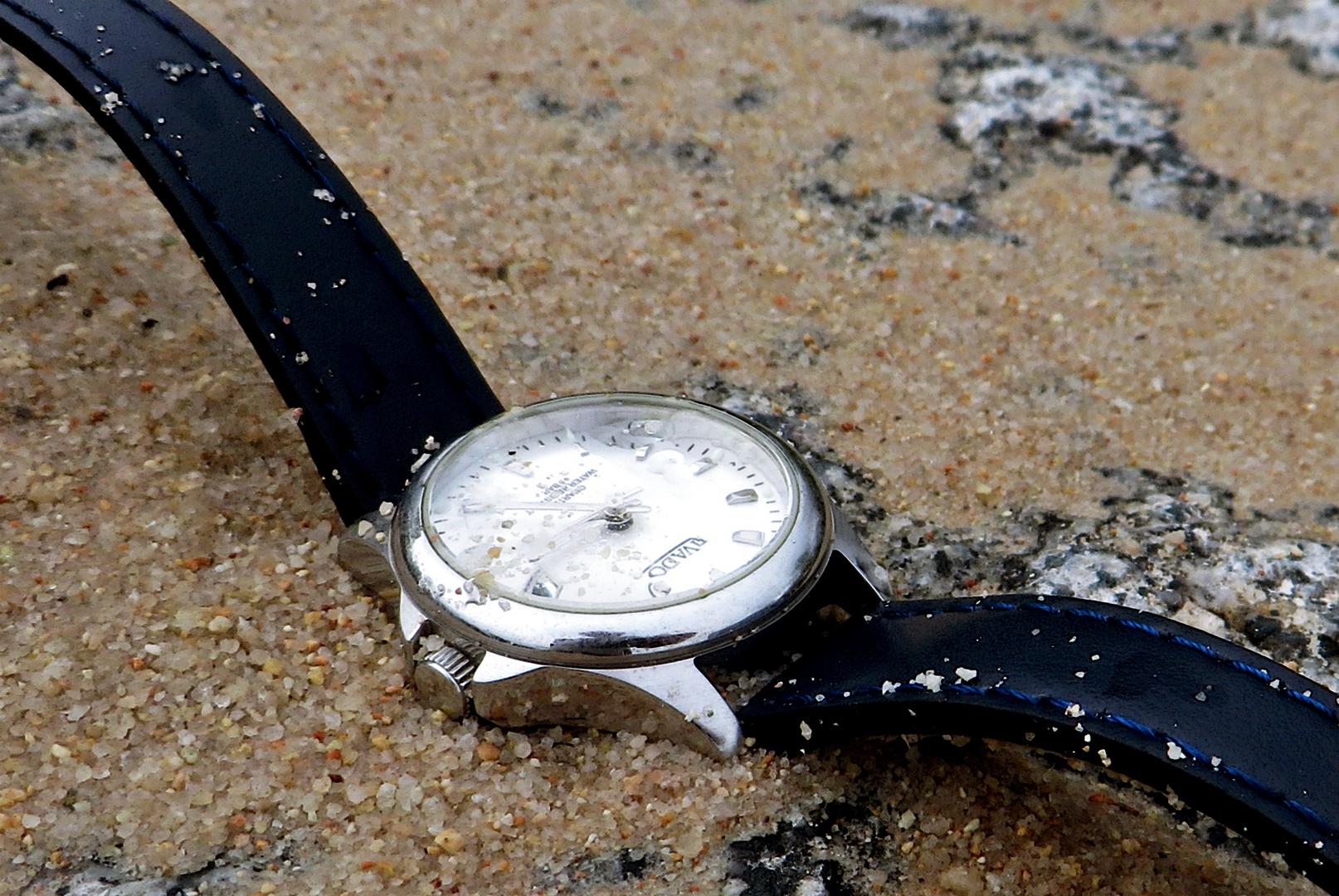 Die Zeit in Sand gesetzt