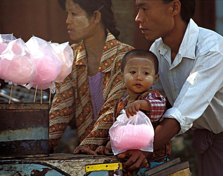 Die Zuckerwatte-Familie