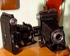°°° Die zwei Belfoca's - hinten die Filmfenster - für 6x6 und  6x9  mit oder ohne Maske °°°