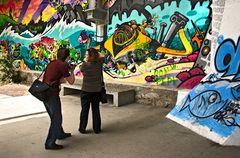 """Die""""Graffitifotografen"""" auf der Grazer Murpromenade"""