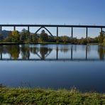 Dienstag ist Spiegeltag 13.04.2021  ICE Brücke über die Fulda