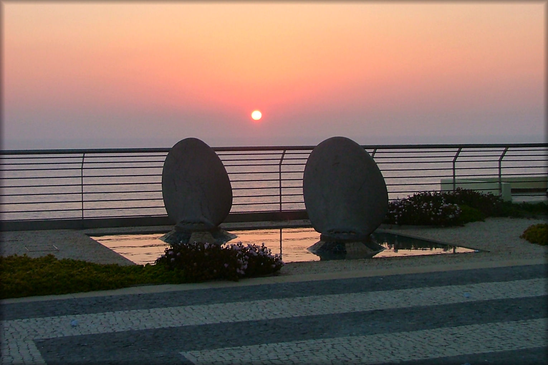 Dienstag ist Spiegeltag....Sonnenuntergang!