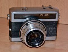 Dies ist meine WERRA 1 mit Standardobjektiv von 50 mm Brennweite…