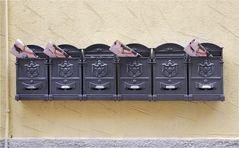 Diese Briefkästen ...