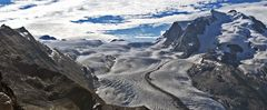 Diese Sicht am Morgen zum zweithöchsten Alpenmassiv überhaupt...