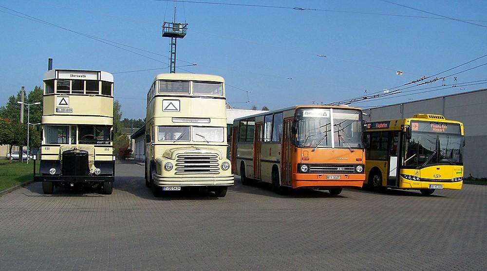 Dieselbusse im Wandel der Zeiten