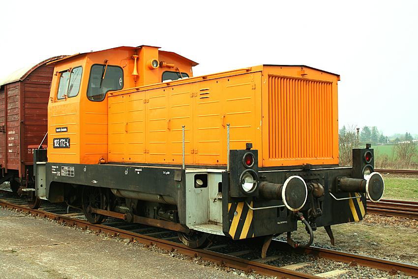 Diesellok 102 172-4 der Eisenbahnfreunde Traditionsbahnbetriebswerk Staßfurt
