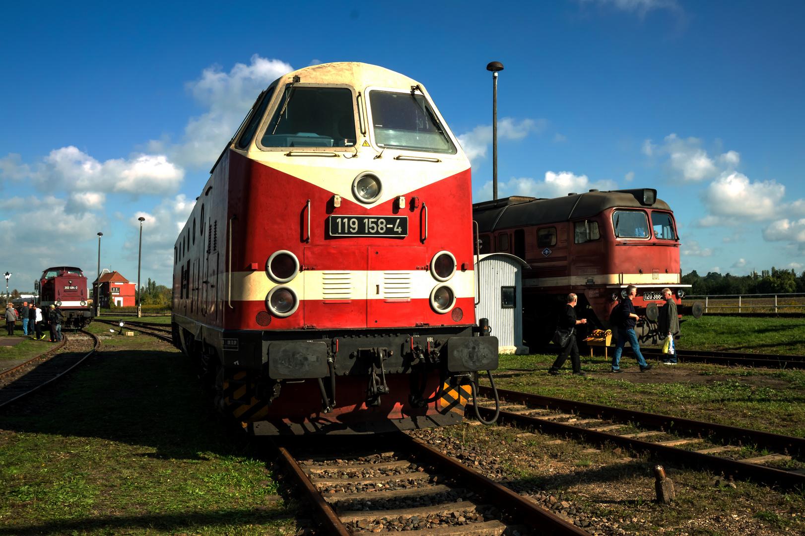 Diesellok 119 158 Der Berliner Eisenbahnfreunde Foto Bild Dampf
