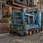 Diesellok im Stahlwerk