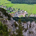 Dieser Blick auf das Kloster Ettal…