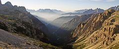 Dieser Blick aus dem Bereich der Auronzohütte im 2300m Bereich...