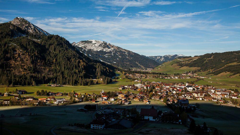Dieser Blick ins Tannheimer Tal...