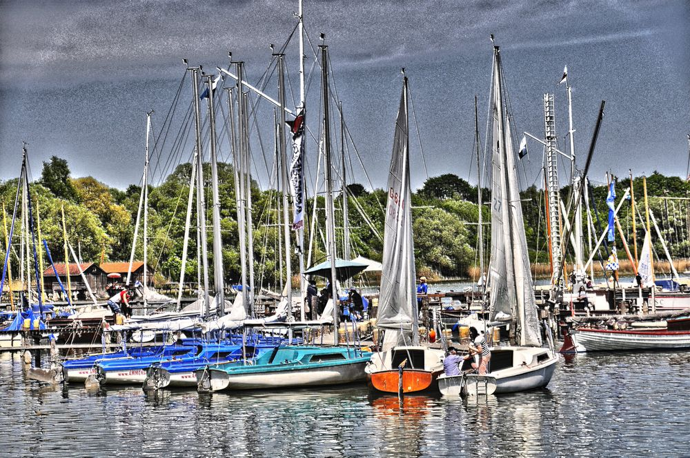 Diessen am Ammersee - Segelschiffe
