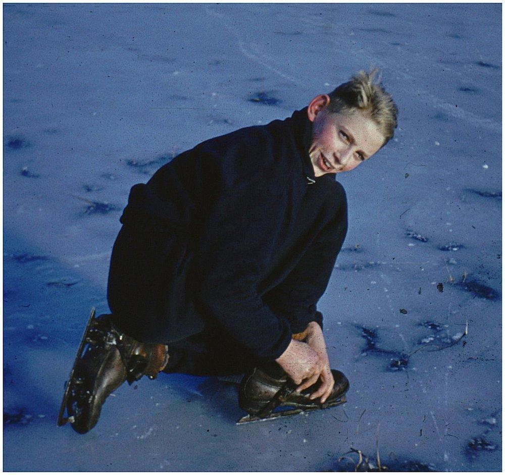 Dietmar auf dem Eis