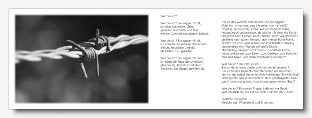 Dietrich Bonhoeffer: Wer bin ich?