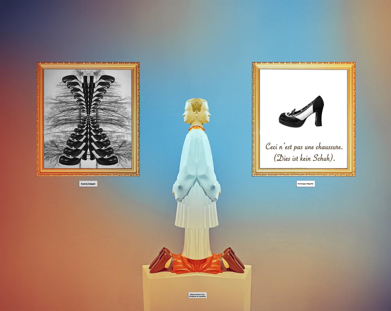 """Digi-Art """"Schuhe-Austellung"""""""