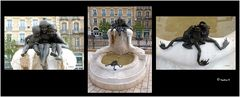 Dijon - Märchenbrunnen auf dem Stadtplatz