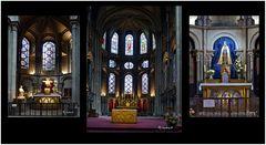 Dijon -Notre Dame - Apsis mit Hauptaltar und zwei Seitenaltären