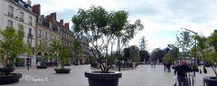 Dijon - Stadtplatz zwischen Triumpfbogen und Square-Darcy-Park