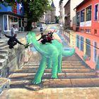 Dino in St Wendel, Saarland gesichtet