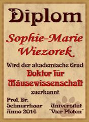Diplom für Sophie-Marie