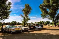 Discarded cars on Route 66