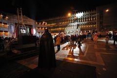 Discoabend auf der Piazza