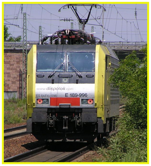 Dispo E-Lok durch Graben-Neudorf