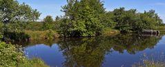 Dlouhy ryb ein herrlicher langer See im böhmischen Teil von Zinnwald..