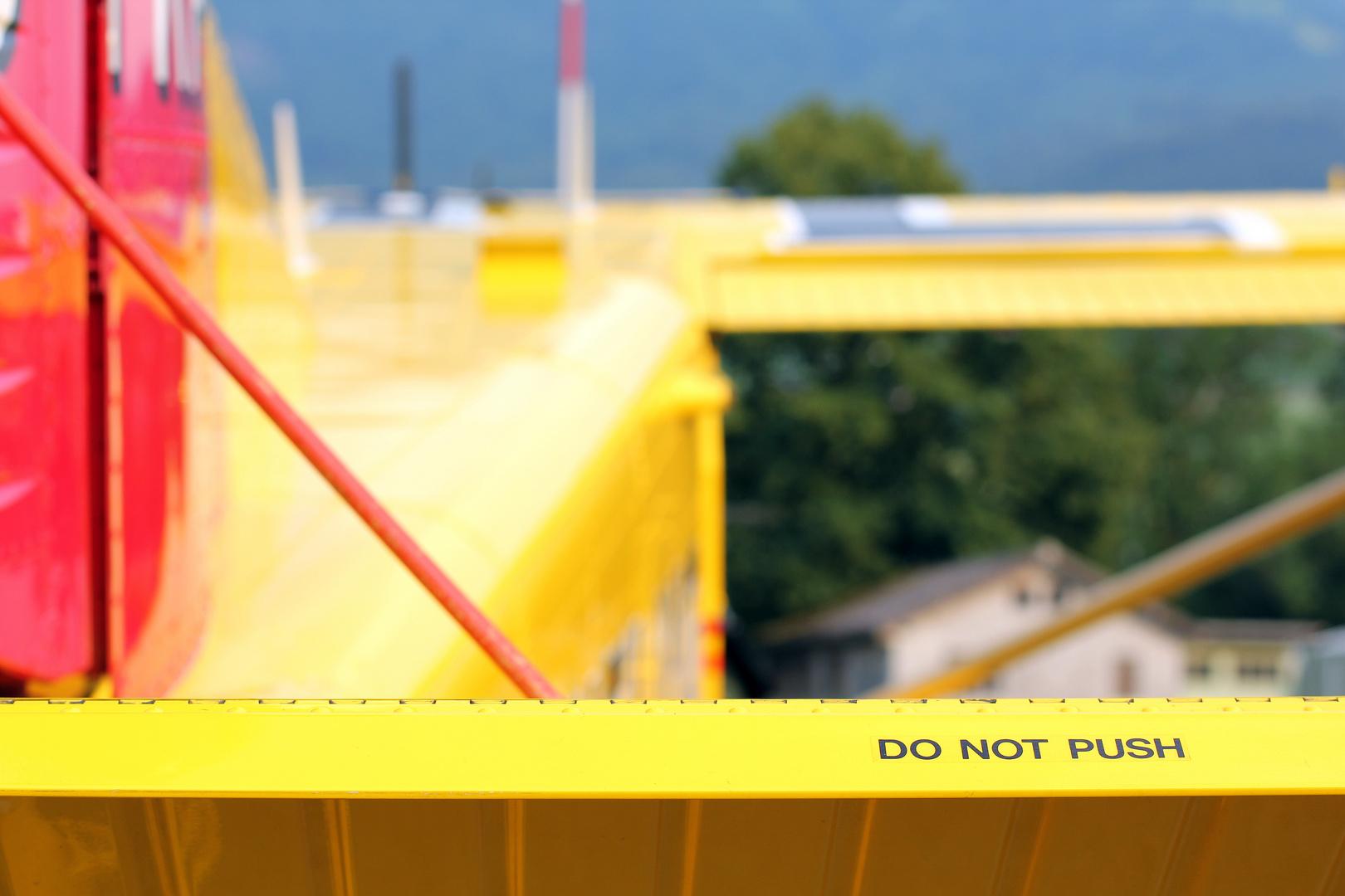 Do not push...