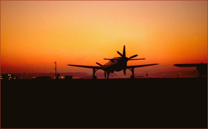 Do335 beim Sunset