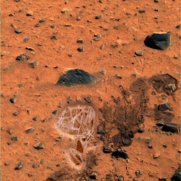 Doch Wasser auf dem Mars!