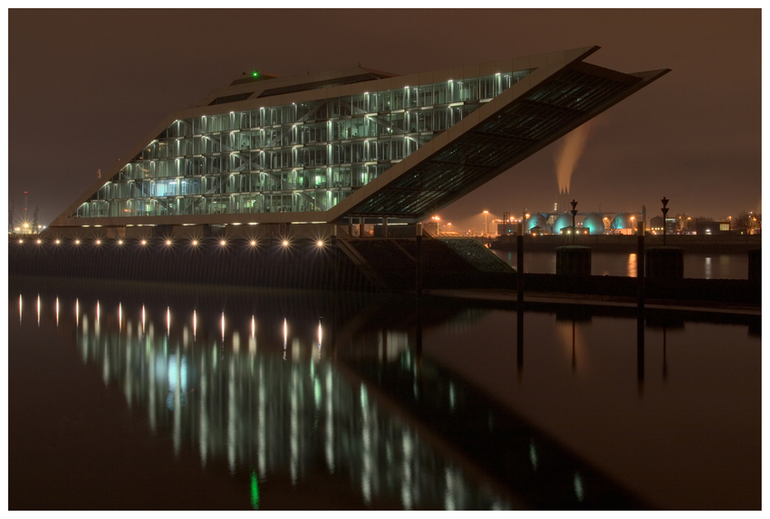 Dockland bei Nacht