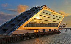 Dockland im Sonnenuntergang