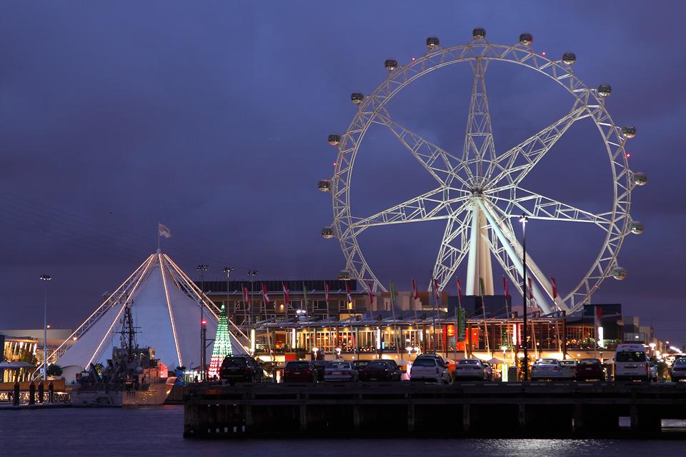 Docklands Melborne - blaue Stunde
