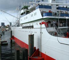 Dockschlösser am Anleger an der Überseebrücke in HH-St. Pauli